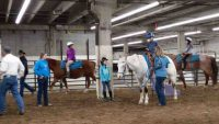 horse riding lessons indoors